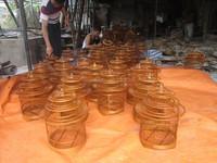 Honey color bamboo bird house/ exellent bamboo bird cage - eco-friendly 100%