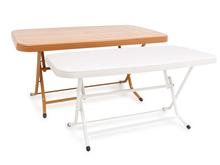 90x150 Rectangular Plastic Table with Metal Folding Leg