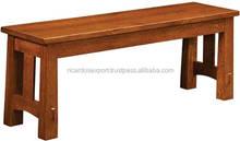"36"" Modesto Bench in Oak Natural Wood Furniture / Handmade Patio Seat"
