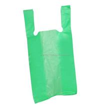 Cheap green plastic vest bags - plastic shopping bags