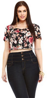 2015 New And Stylish Summer Collection Of Floral Print Crop Tops