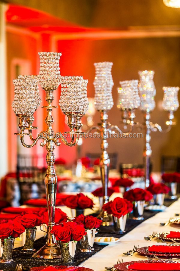 Hot sale crystal votive candelabra tall