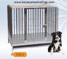 4 x 3 x 4ft Stainless Steel Dog/Pet Cage (Medium)