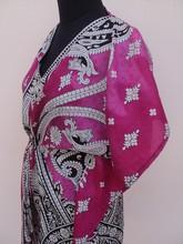Nuevos diseños elegantes para estilos impresos para las mujeres caftanes 100% prendas de poliéster