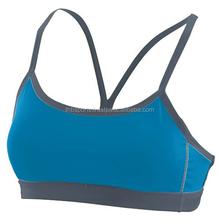 Simple Ladies Bra Blue Rib Design