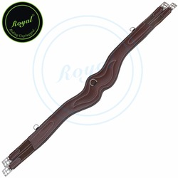 Royal Wave Over Lay Girth/Brown Elastic Grey & Maroon Lines-Oak brown-140 cm-SS.