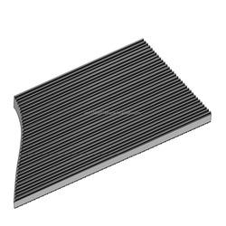 "Rhino Black Corrugated Rubber CLASS 1 Switchboard Mat 3' x 75' x 3/16"""