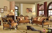 Fontaine French Antique Style Formal Living Room Sofa Set