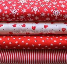 suppliers of cotton X-Mas design print fabrics