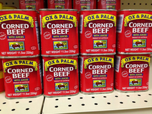 Good Quality OX & Palm Corned Beef beef in 150g 170g 200g 340g 340g cans