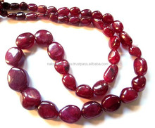Top AAA Quality Natural Ruby Freen Form Nuggets Smooth Loose Beads Strand