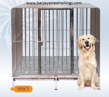 5 x 4 x 5ft Stainless Steel Dog/Pet Cage (Large)