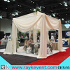 telescopic wedding ceiling drape and pipe for trade show booth
