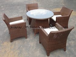 New Design 2015 D.L outdoor furniture antique outdoor rattan poly dining room