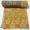RTHKG-121 2015 Latest Indian vintage Floral Print Kantha Quilt Decorative Bedspread, kantha Fruit design Bed Cover Jaipur