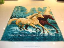 satin trim acrylic blanket