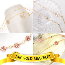 14K Gold Bracelet & Bangles , Made in Korea, Women Fashion Accessory / Korean Buying Service