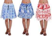 Dança de algodão mulheres curto Mini saias