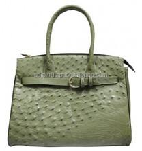 Ostrich leather handbag SOH-010