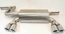 Stainless Steel Rear Exhaust (Silencer & Twin Tailpipes) for BMW E46 M3 by Top Gear Tuning