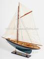 la pluma duick pintado de madera artesanal modelo yate de vela