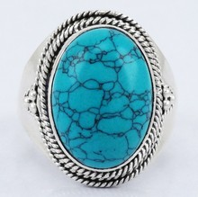 925 STERLING SOLID SILVER GEMSTONE JEWELRY BEAUTIFUL NEW FASHION DESIGN TURQUOISE RING