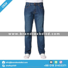 Mens washed denim jeans 2015 new style wholesale hot pants from Bangladesh supplier OEM service fashionable Blue Indigo casual c