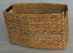 Water Hyacinth Grass Storage Basket, Direct Manufacture and Cheap Price