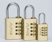Japanese high security padlock, number is 0 to 9. 4 digit combination padlock.