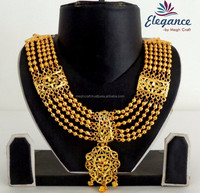 NEW LOOK BOLLYWOOD FASHION IMITATION JEWELRY-WHOLESALE GOLD PLATED BRIDAL JEWELLERY-SOUTH INDIAN JEWELRY-LONG RANI HAAR SETS