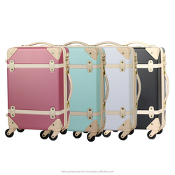 baby travel bag abs plastic suitcase wholesale trolley ykk zipper abs luggage travel suitcase trunk with wheels travel bag
