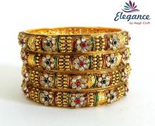 2015 Nueva moda lote línea bangles- indio al por mayor de uno brazaletes gramo de oro con perlas