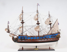 GOTO PREDESTINATION PAINTED Wooden Model Ship
