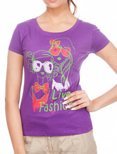 2015 fashion factory price girl printed t shirt for women