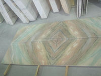 Book Match Rosa Portugal Green Luxury Marble, Pink marble with green veins, Portugal Pink Marble