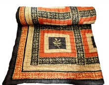 new style 100% cotton printed bedding indian old vintage kantha Quilt, Reversible 100% cotton Quilts/Throw/Blanket/Gudari