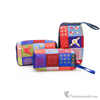 Vietnam hand embroidery cosmetic bag with zip, makeup box case