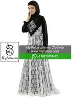 Dubai Fashion Abaya, Wholesale, Ethnic Muslim Dress, Flower Net Burka, Islamic Women Maxi, Beautiful Shaista Abaya AY-239