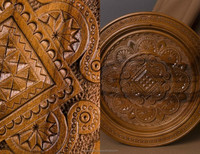 Decorative plate made of wood