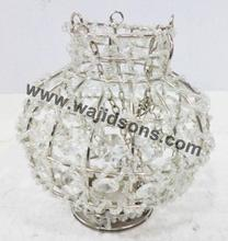 Classic Modern Crystal Votive Centerpiece And Silver Plated Hanging Crystal votive
