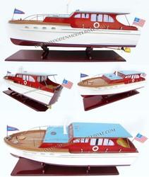 CHRIS CRAFT DOUBLE STATEROOM CRUISER 1940 CRAFT BOAT - WOODEN BOAT
