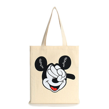 New cheap cute mouse character canvas handbag T-125 ladies schoolbag bag