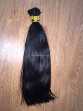 100% virgin and remy Viet Nam high quality double natural color: black hair