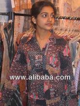 Impreso de algodón para mujer camisas que usa camisas para mujer Girls piloto japonés camisas para mujer