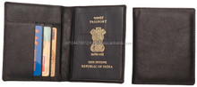 Leather Passport Cover /Genuine Leather Passport Case With Card Holder / Real Leather Card Passport Cover