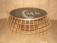 Metallic Mash Table In Golden Color