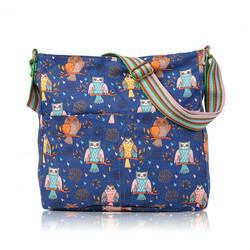 JC wholesale cheap canvas bags Vintage Owl Print Cross body Bag, Women Bag,Lady crossbody bag