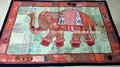 indio colgando de la pared decorativos patchwork elefante lentejuelas tapices hechos a mano