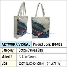 Cotton canvas tote bag / canvas tote bag