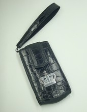 Borjoa Genuine Crocodile Leather case with 925 Sterling Silver emblems for Vertu Constellation V